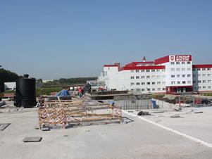 Klärbehälter EFES Brauerei Novosibirsk Russland